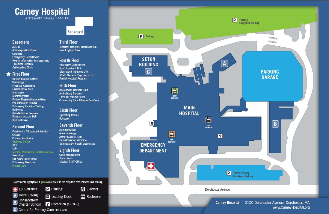 Brockton Va Campus Map.Carney Hospital Dedicates Ems Breakroom Carney Hospital A