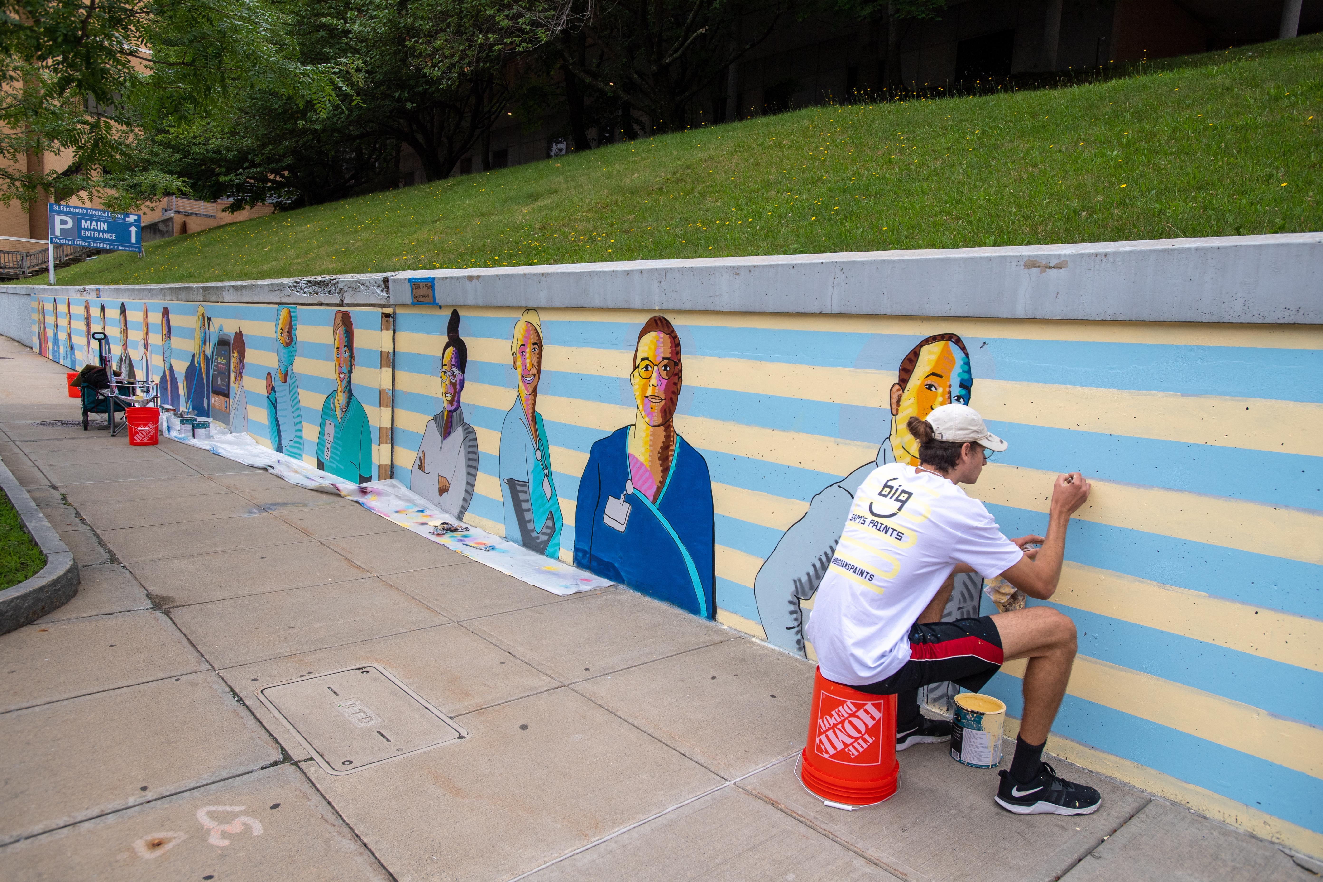 health care heroes mural at st. elizabeth's