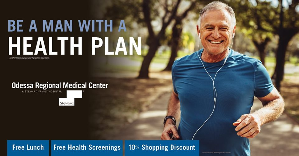 Man with a health plan