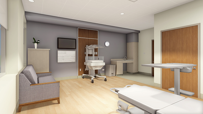 another view of the labor and delivery rooms for new hospital
