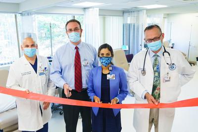 Jason Zauls, MD, Radiation Oncology Director; Jonathan Croopnick, MD, Hematology Oncology; Marisela Marrero, MD, President, Good Samaritan Medical Center; Richard Junghans, MD, Hematology Oncology