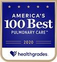 Healthgrades Top 100 for Pulmonary Care logo