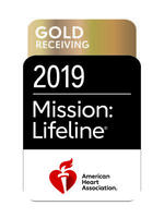 American Heart Association Mission Lifeline Gold Receiving Quality Achievement Award