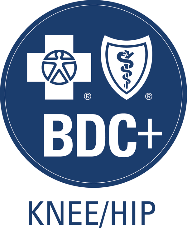 photo of blue distinction knee/hip logo
