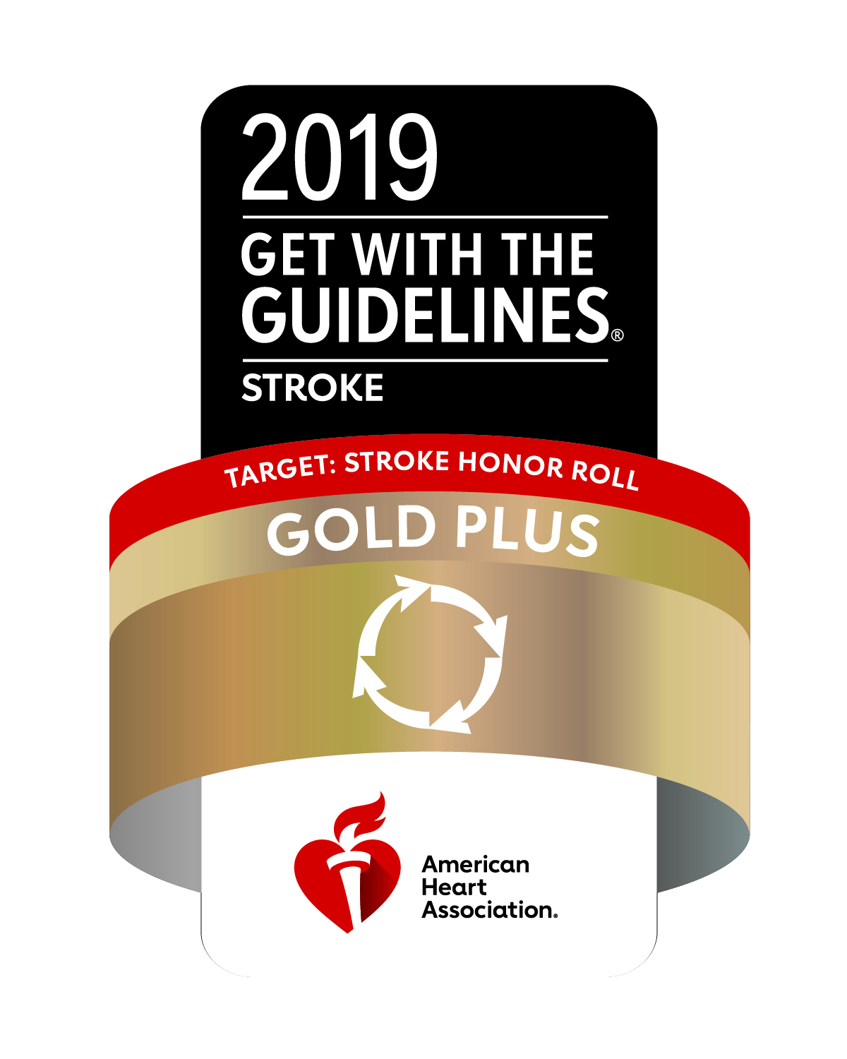 American Heart Association/American Stroke Association's Get With The Guidelines® Target: Stroke Honor Roll Gold Plus Quality Achievement Award