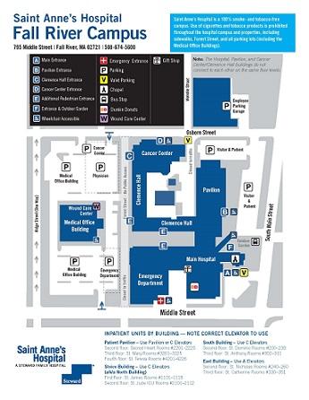 Saint Anne's Hospital campus map