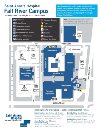 Saint Anne's Hospital campus map