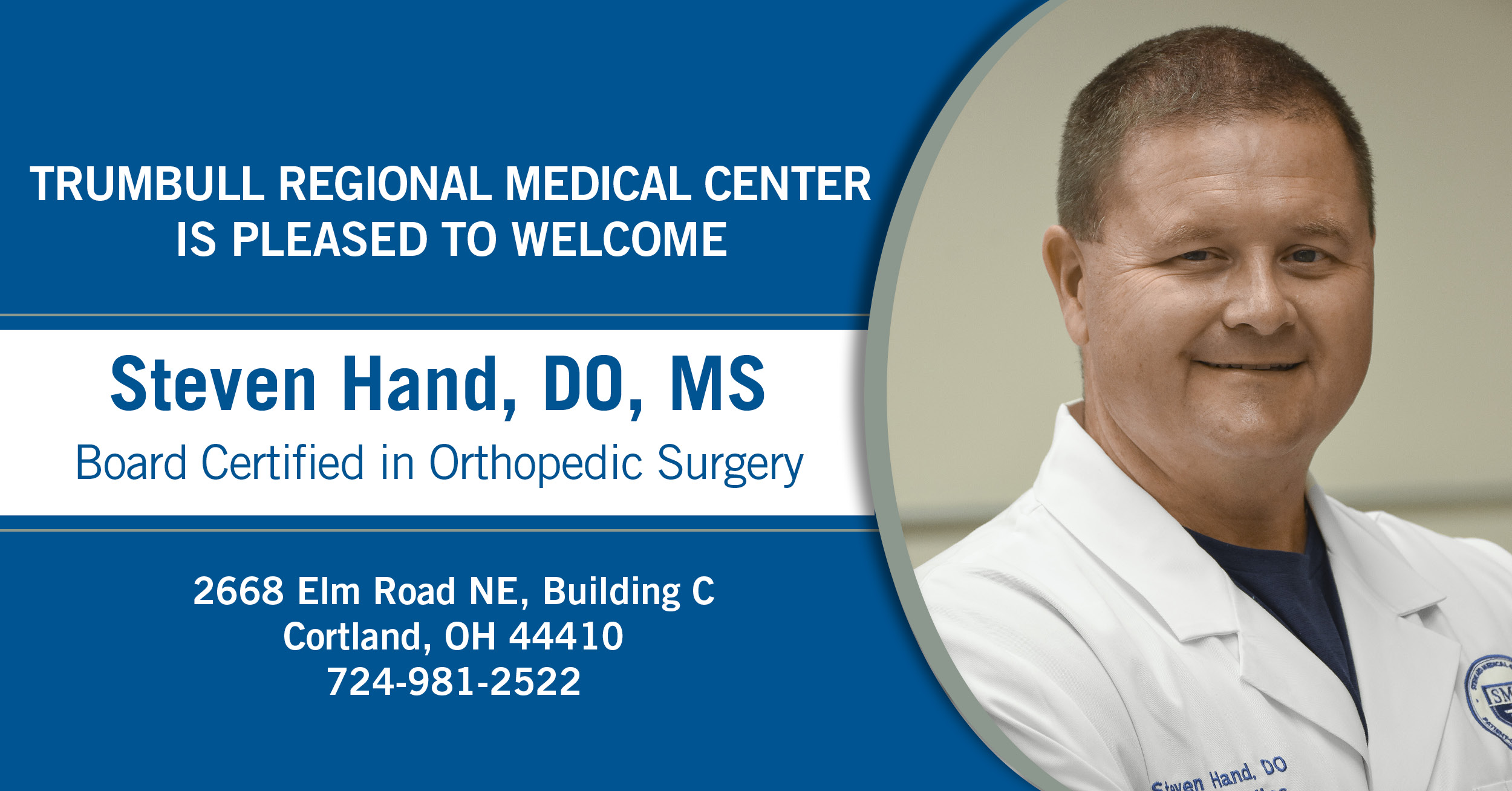 Steven Hand, DO, Orthopedic Surgery