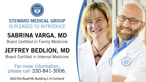Photo of Sabrina Varga, MD, and Jeffrey Bedlion, MD