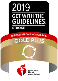 GWTG Gold Plus award for stroke care seal
