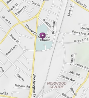 Norwood Hospital Map