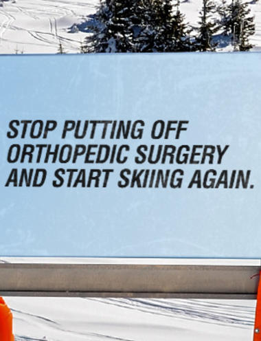 skiing sign