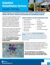 Aquatic Therapy at Norwood Hospital Flier